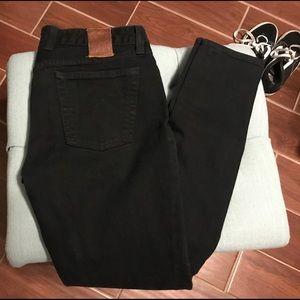 Lucky Brand Lola Straight Black Jeans (10/30)